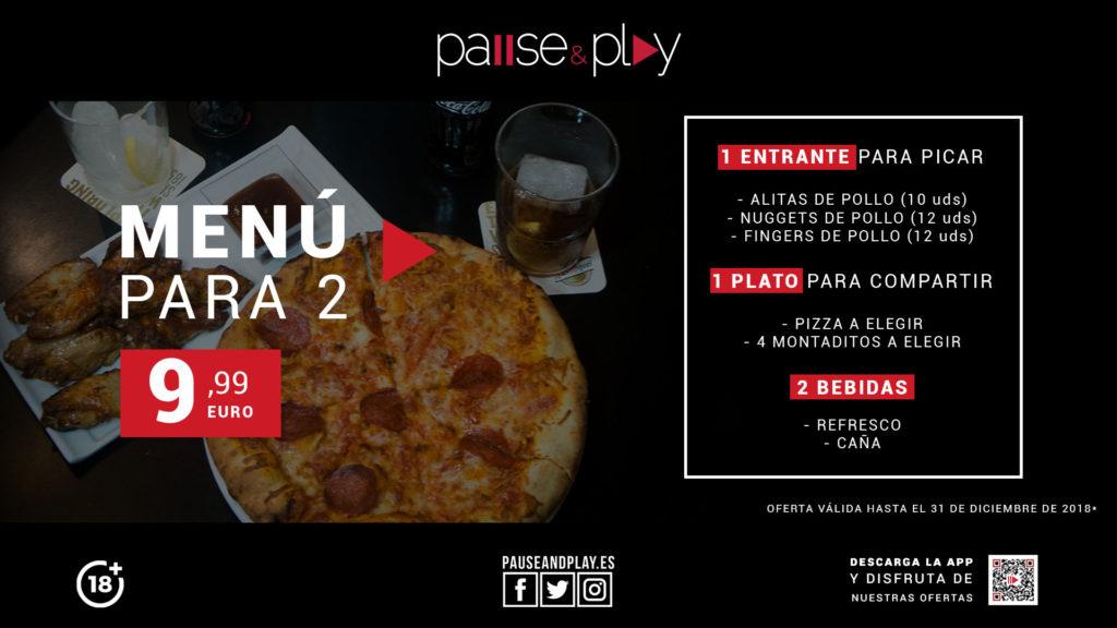 OFERTA - Menú para dos Pause & Play Los Alcores