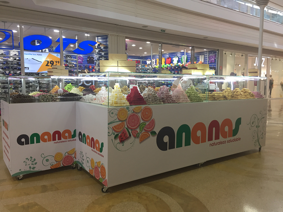 ananas-stand Los Alcores
