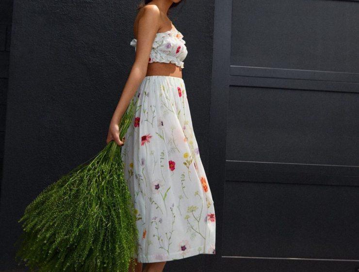 vestido floral hm