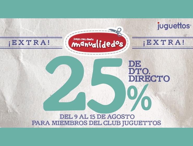 25% de descuento directo en manualidades de Juguettos en CC Los Alcores