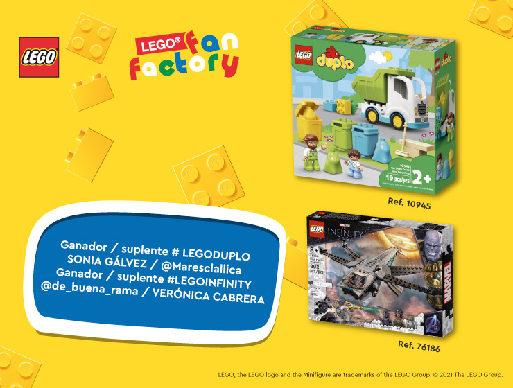 Ganadores Sorteo Lego - Los Alcores